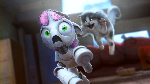SweetieBot does not like cats