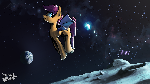 Scootabat on the moon [SotN 4k follower wallpaper]
