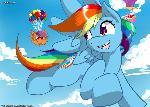 Flying pratice: Fanime 2014 mlp print