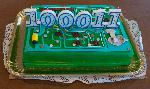 That's the cake I got for my birthday. It turned out to be an alarm clock PCB instead of PC motherboard, but still über cool nevertheless.