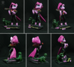 Cyberpunk Pinkie Pie figurine