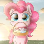 morning pinkiepie cupcake