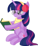 Twilight Sparkle Vector 58 - Reading Book