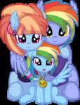 Rainbow Dash's Family Vector - Gold Medal