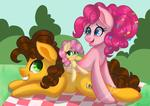 spoiler alert ! Pinkie x cheese and lil cheese