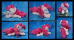 Squeaky Pinkie Collage Custom Beanbag - Commission