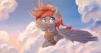 Cute pony in the sky