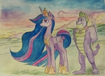 Princess Twilight sparkle and Spike