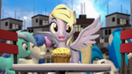 Derpy looking at the muffin [SFM]