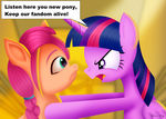 Twilight Sparkle and Sunny Starscout