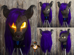 Kailen fursuit head with LED eyes