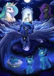 Commission - Luna and Moonrise