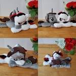 Little Pip and Blackjack weighted plushies
