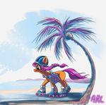 Sunny Rollerblading on the Beach