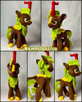 Commission Plushie Pony Cinder Glow 30cm