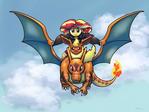 Fire Pokemon Trainer Sunset commission