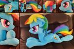 Rainbow Dash - 48 inch laying plush