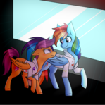 Redraw V2 - Scootaloo Joined The Rainbow Factory
