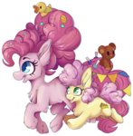 Pinkie and her daughter