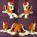 Mlp Autumn Blaze lying plush