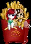 [YCH] French Fries - Astro Bun