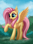 Fluttershy and shadow