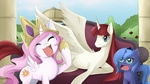 Princess Celestia Luna and Lauren FaustBy Jinzhan