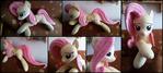 Cuddle size Fluttershy plush
