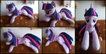 Cuddle size Twilight Sparkle plush