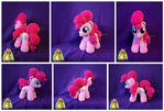 Plush crocheted Pinkie Pie
