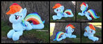 Rainbow Dash Beanie (determined eyes)