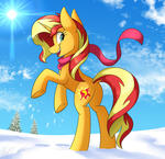 Sunset Shimmer In The Snow
