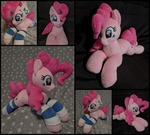 Plush Pinkie Pie in striped socks