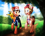 Ash and Serena - Pokemon Ponies