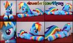 34 inch Rainbow Dash plush