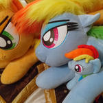 Rainbow Dash and her plushie