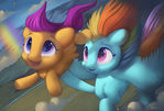Flying sisters,