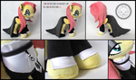 + Plush Commission: Goth Fluttershy closeups +