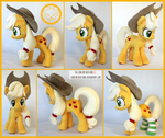 + Plush Commission 7 of 7: Applejack with socks +