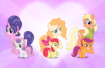 The Cutie Mark Crusaders and their Mothers