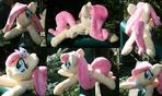 Shoulder Plushie: Fluttershy (Open Eyes + Angel)