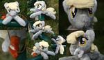 Shoulder Plushie: Derpy Hooves (Open Eyes)