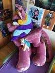 Pegasus against sphinx background