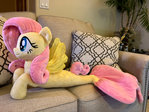 Seapony Fluttershy Plushie! Side View