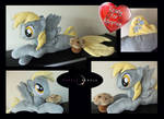 Derpy Hooves Seapony Plush with Muffin!