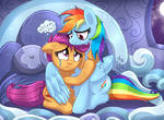 MLP FIM - Rainbow Dash Comforting Scootaloo V 1