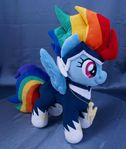 Rainbow Dash as Zapp MLP plushie