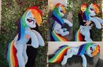 Lifesize Rainbow Dash plushie 130cm / 50 inch