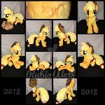 MLP 10in Determined floppy Applejack Plush {Comm}