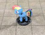 Rainbow Dash Roleplaying Miniature